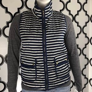 41Hawthorn Anise Blue White Striped Vest Large